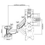 """SOPORTE MONITOR LCD PARED HIDRAULICO 6 MOV MAX.42"""""""