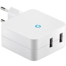 ALIMENTADOR USB 240V - 5V 4.1A  2 TOMAS