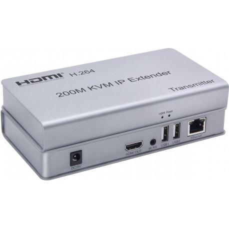 KVM EXTENDER HDMI + USB 200Mts 1 RJ45  1-1 / 1 a N