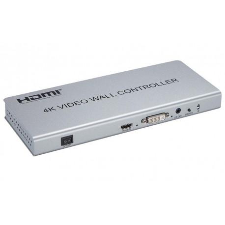 VIDEOWALL 4K HDMI  2 X 2 CON SELECTOR MANUAL/AUTOM