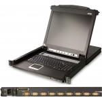 KVM SWITCH LCD 17'' 8 PUERTOS PS/2 y USB 1U ALTURA