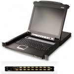 KVM SWITCH LCD 17'' 16 PUERTOS PS/2 y USB 1U ALTUR