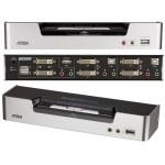 KVM SWITCH DUAL VIEW DVI 2X1 USB + AUDIO + HUB 2 P