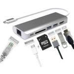 DOCK USB-C 3.1 (M) - MULTIPUERTO 5 EN 1