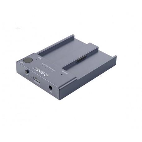 CAJA EXTERNA USB-C 3.1  2 x M.2 NVMe CLONADO AUTONOMA