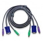 CABLE DE CONEXION KVM PS/2 5Mts (2 X VGA + 2 X PS2