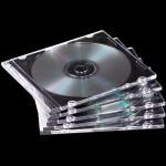 PACK 25/u CDS  SLIM COLOR TRANSPARENTE