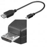 ADAPTADOR USB TIPO A(H)-MICRO USB B (M) OTG 0.2Mtr
