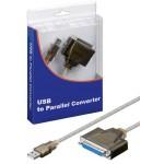 CONVERSOR USB A PARALELO DB25H 1.8Mts
