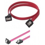 CABLE DATOS SATA ACODADO 1 EXTREMO + LATCH 0.30Mt