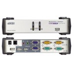 KVM SWITCH DUAL VIEW 2X1 USB + AUDIO + HUB 2 PTOS