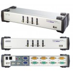 KVM SWITCH DUAL VIEW 4X1 USB + AUDIO + HUB 2 PTOS