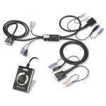 KVM SWITCH DVI 2X1 HIBRIDO PS/2 + USB CON AUDIO (A