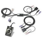 KVM SWITCH DVI 2X1 HIBRIDO PS/2 + USB CON AUDIO (A