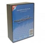 PACK 5/u CAJAS DOBLE DVD SLIM COLOR NEGRO