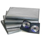PACK 5/u CAJAS INDIVIDUALES DVD COLOR NEGRO