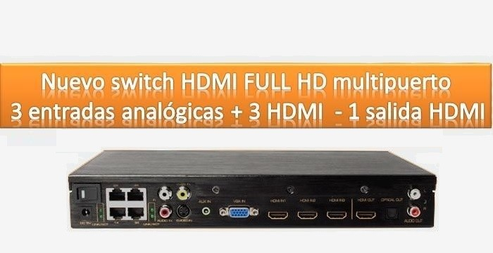 INTEGRADOR HDMI MULTIPUERTO