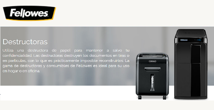 DESTRUCTORAS FELLOWES