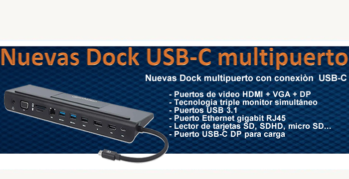 PRODUCTOS USB-C, ADAPTADORES, DOCK